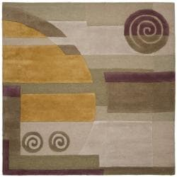 Handmade Rodeo Drive Soho Beige New Zealand Wool Rug (6' Square)