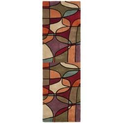 Handmade Rodeo Drive Tiff Multicolor N.Z. Wool Runner (2'6 x 8')