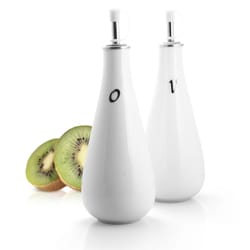 White Porcelain Oil and Vinegar Drizzler Set