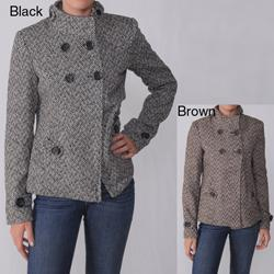 Ci Sono by Adi Juniors Herringbone Wool Blend Coat