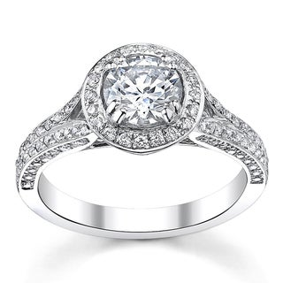 14k White Gold 1 1/3ct TDW Diamond Engagement Ring (H-I, SI1-SI2)