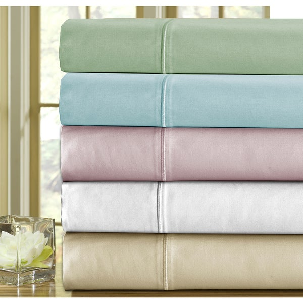 Solid Colored Egyptian Cotton 1000 Thread Count 4-piece Sheet Set (As Is Item)