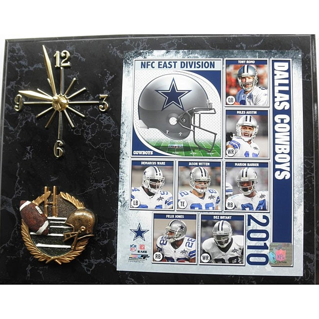 Dallas Cowboys 2010 Collectible Photo Clock Plaque