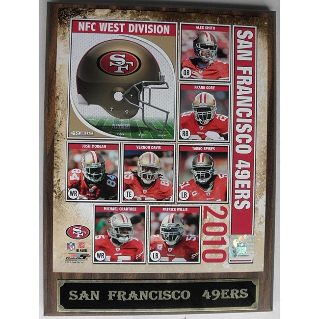 Licensed San Francisco 49ers Wood-grain-board Engraved Photo Plaque