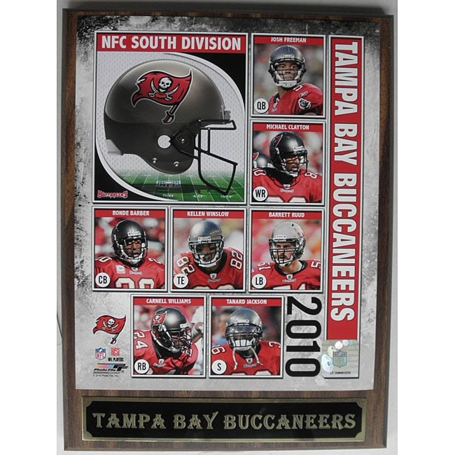Tampa Bay Buccaneers 2010 Collectible Photo Plaque