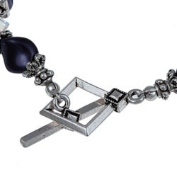 MS DJ Casanova Faceted Purple Fiber Optic and Crystal Bracelet