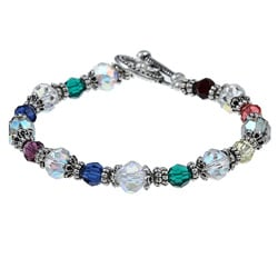 MSDjCASANOVA Rainbow Crystal Bracelet