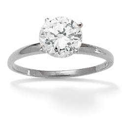 Ultimate CZ 10k White Gold Cubic Zirconia Solitaire Ring