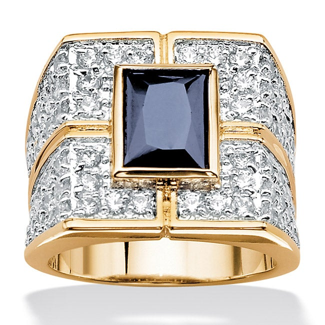 palmbeach cz 18k gold silver s sapphire and cubic