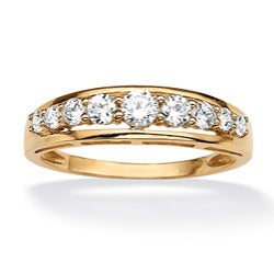 Ultimate CZ 10K Yellow Gold White Cubic Zirconia Ring