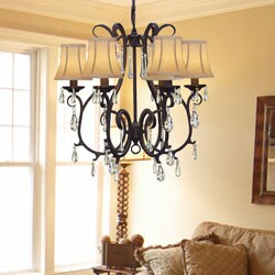 Versailles 6-light Wrought Iron Chandelier
