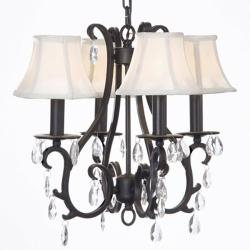 Versailles 4-light Wrought Iron Chandelier