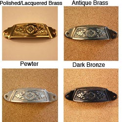 Solid Brass Vintage Sherwood Bin Pulls (Pack of 4)