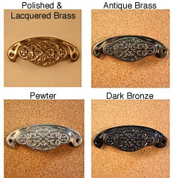 Solid Brass Vintage Newcastle Bin Pulls (Pack of 4)