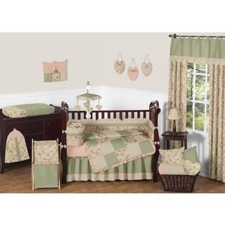 Sweet Jojo Designs Baby Annabel Antique Floral 9-piece Crib Bedding Set