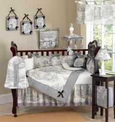 French Toile 9-piece Crib Bedding Set