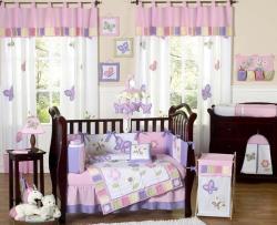 Sweet Jojo Designs Butterfly 9-piece Crib Bedding Set