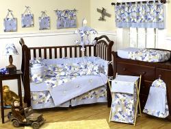 Sweet Jojo Designs Blue Camo 9-piece Crib Bedding Set