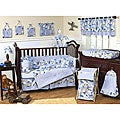 Sweet Jojo Designs Blue Camo 9-piece Crib Bedding Set