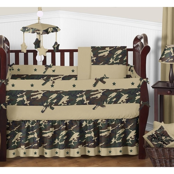Sweet Jojo Designs Green Camo 9-piece Crib Bedding Set
