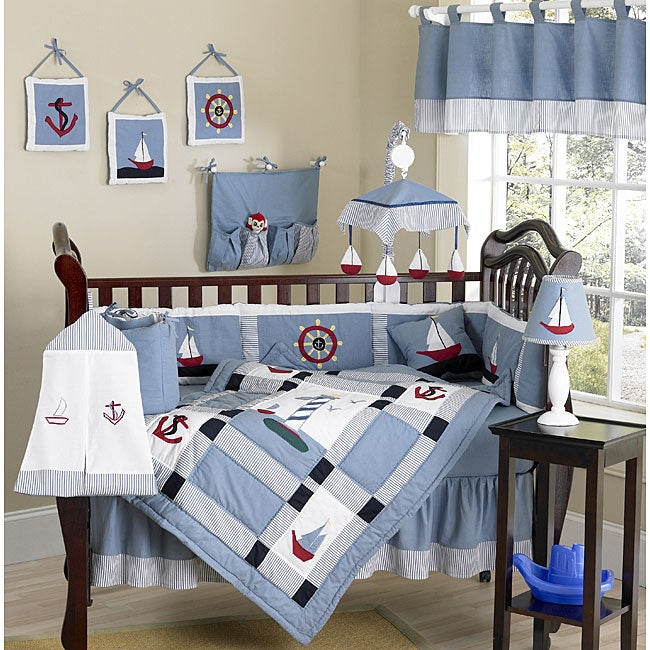 Sweet Jojo Designs Come Sail Away 9-piece Crib Bedding Set