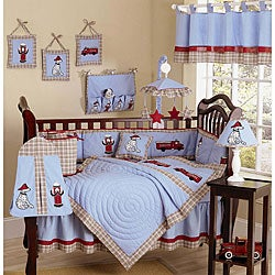 Fire Truck 9-piece Crib Bedding Set