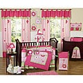 Flowers 9-piece Crib Bedding Set