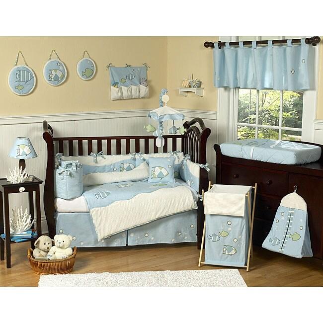 Sweet Jojo Designs Fish 9-piece Crib Bedding Set