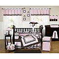 Sweet Jojo Designs Pink and Chocolate Hotel 9-piece Crib Bedding Set