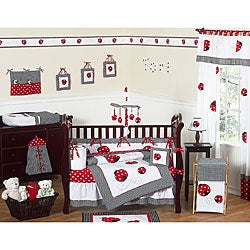 Sweet Jojo Designs Little Ladybug 9-piece Crib Bedding Set