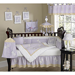 Sweet Jojo Designs Purple Dragonfly 9-piece Crib Bedding Set