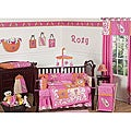 Pink Surf 9-piece Crib Bedding Set