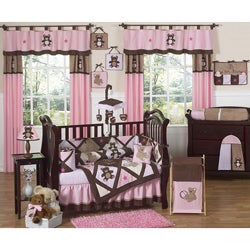 Sweet Jojo Designs Pink Teddy Bear 9-piece Crib Bedding Set