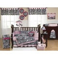 Zebra 9-piece Crib Bedding Set