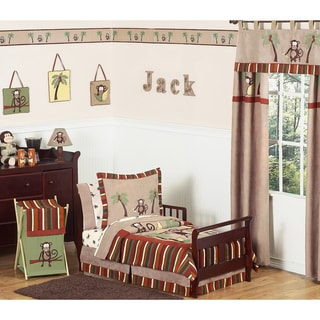Sweet JoJo Designs Monkey 5-piece Toddler Boy's Bedding Set