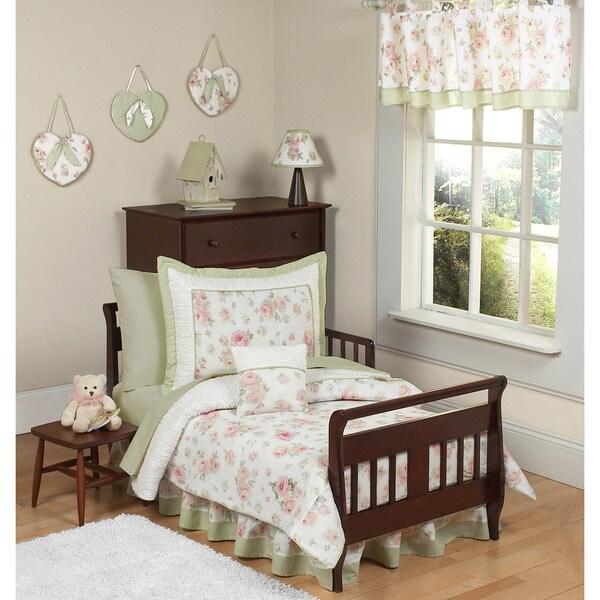 Sweet JoJo Designs Riley's Roses 5-piece Toddler Girl's Bedding Set