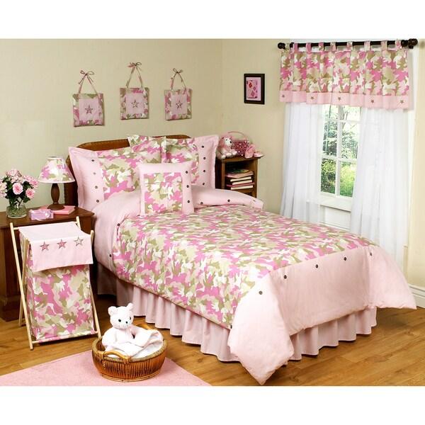 Sweet JoJo Designs Pink Camouflage 4-piece Girl's Twin-size Bedding Set