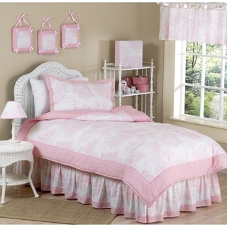 Sweet JoJo Designs Vintage French Toile 4-piece Girl's Twin-size Bedding Set