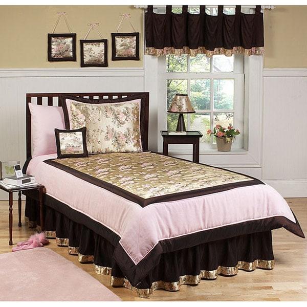 sweet jojo designs abby rose 4 piece girl 39 s twin size bedding set