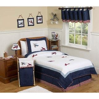 Sweet JoJo Designs Red/ White/ Blue 4-piece Twin-size Comforter Set