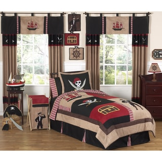 Sweet JoJo Designs Pirate 4-piece Twin-size Comforter Set