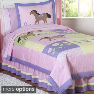Sweet JoJo Designs Pink/ Purple Comforter Set