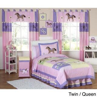 Sweet JoJo Designs Pink/ Purple Comforter Set