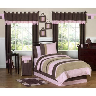 Sweet JoJo Designs Pink/ Brown 4-piece Twin-size Comforter Set