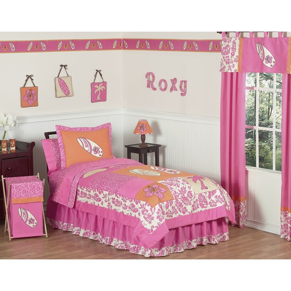 Sweet JoJo Designs Pink 4-piece Twin-size Comforter Set