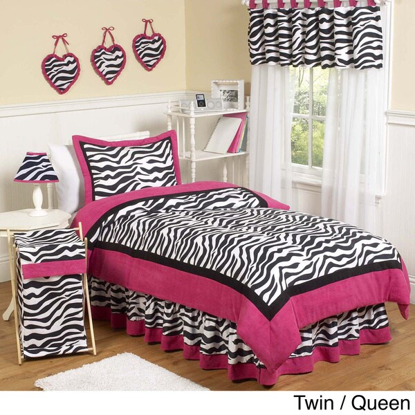 Sweet JoJo Designs Pink/ Black/ White Comforter Set