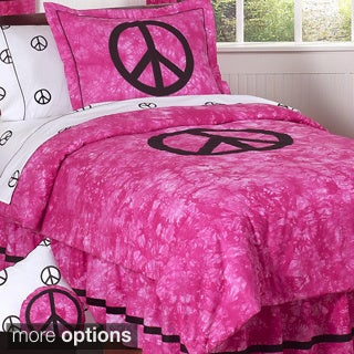 Sweet JoJo Designs Peace Sign Comforter Set