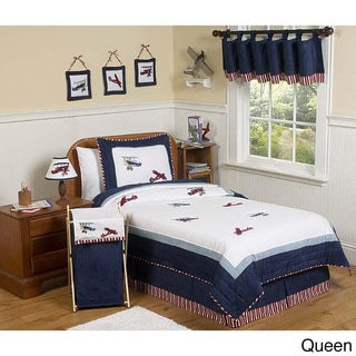 Sweet JoJo Designs Vintage Aviator 3-piece Boy Queen-size Quilt Set