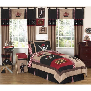 Sweet JoJo Designs Boy's Treasure Cove Pirate 3-piece Full/ Queen-size Quilt Set