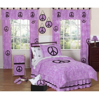 Sweet JoJo Designs Purple Peace Out 3-piece Girl's Full/ Queen-size Bedding Set